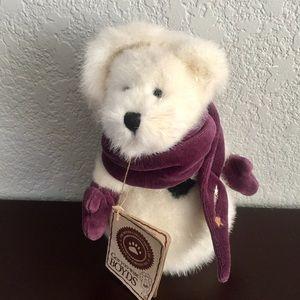 """Boyd's Bears """"Mikie O'Burr"""" bear, sparkly, winter"""